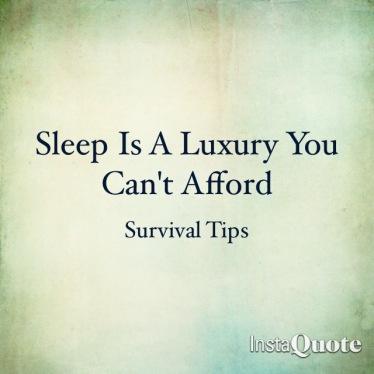 Survival Tip Sleep